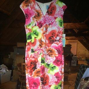 CeCe by Cynthia Steffe Summer Tropics Dress Lined